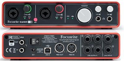interface tarjeta de audio focusrite scarlett 6i6