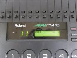 interface trigger midi bateria roland pm-16  permuto