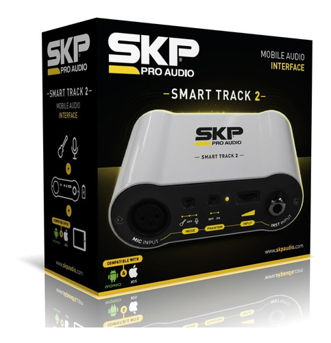 interfase de audio skp smart track 2 para smartphone