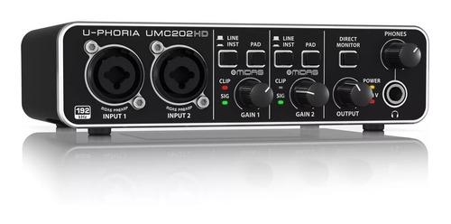 interfaz audio behringer u-phoria umc202hd + garantía