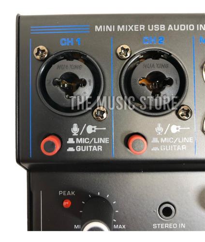 interfaz audio usb consola phantom power 2 canales parquer