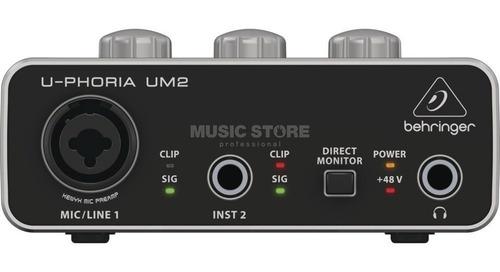 interfaz behringer um2 2x2 xenyx pre amps audio - full
