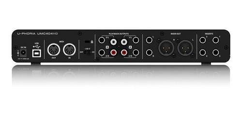 interfaz de audio behringer u-phoria umc404hd