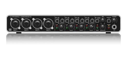 interfaz de audio behringer u-phoria umc404hd p
