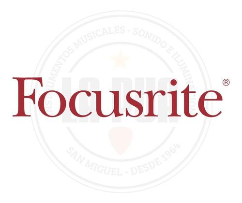 interfaz de audio focusrite scarlett 2i2 3ra gen