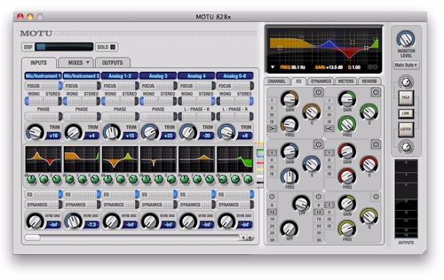 interfaz  de audio  motu 828x thunderbolt