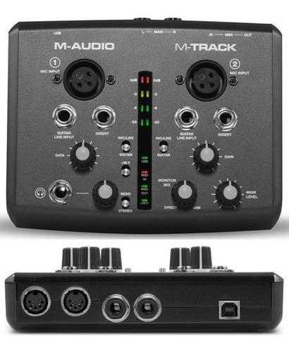 interfaz de audio para guitarra y voz - m-audio (2can)