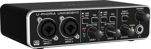 interfaz de audio usb 2.0 behringer u-phoria umc202hd