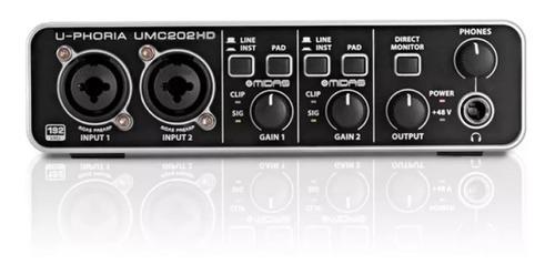 interfaz de audio usb behringer u-phoria umc202hd externa