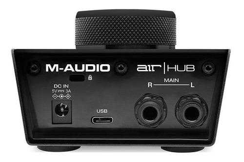 interfaz de audio usb m-audio air hub 24 bits 192khz