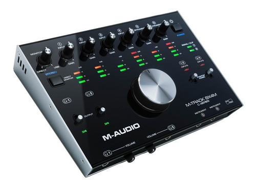 interfaz de audio usb-midi m-audio m-track 8x4m 24bit 192khz