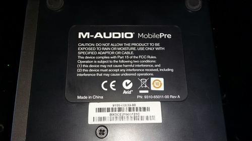 interfaz interface m audio mobile pre excelente estado 10/10