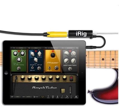 interfaz irig conecta guitarra al iphone ipad con amplitube
