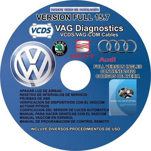 interfaz no, software vagcom 12.12, 14.10, 15.7, 16.8 ingles