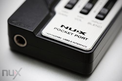 interfaz nux pocket port usb para grabacion musical