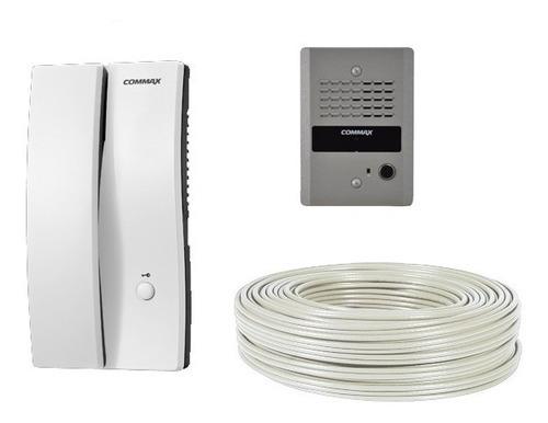 interfón commax audio portero apertura chapa eléctrica