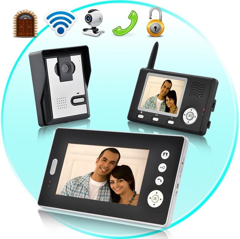 Interfon inalambrico video portero con dos receptores - Video portero inalambrico ...