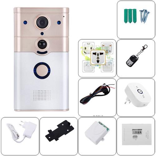 Interfon inalambrico video portero timbre wifi app chapas - Video portero inalambrico ...