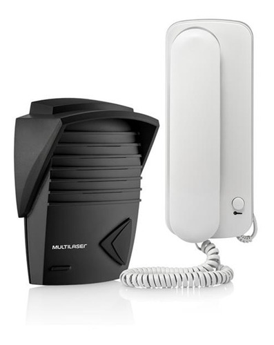 interfone residencial + porteiro eletrônico multilaser bivolt - som alto e nítido resistente sol e chuva aciona portão