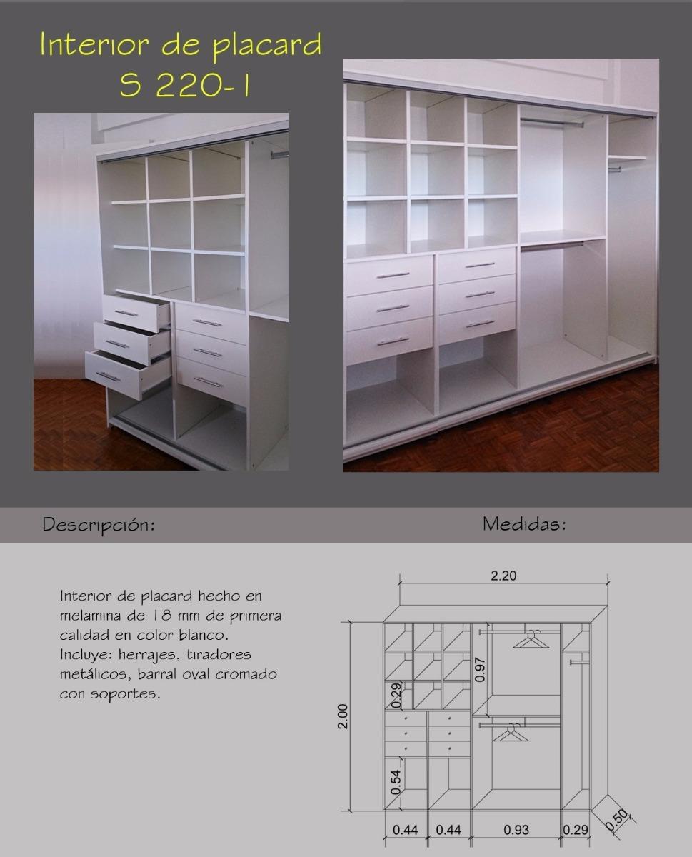 Interior Pcar Mod 220 1 Bco Melamina 220×0 50×2 00h Muebles  # Muebles Rio Gallegos