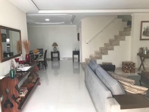 interlagos quality - maravilhosa casa triplex 4 suíte, 2 vgs