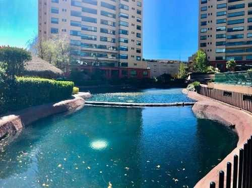 interlomas renta: puerta de lago, espectacular departamento