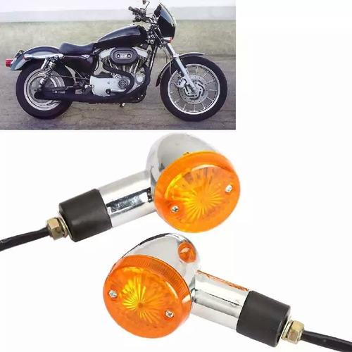 intermitentes cromados para moto estilo chopper