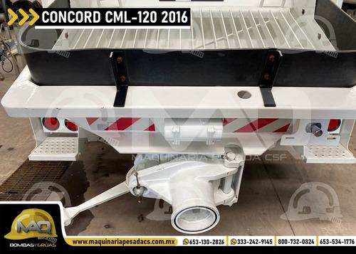 international 2016 - bomba de concreto concord cml-120