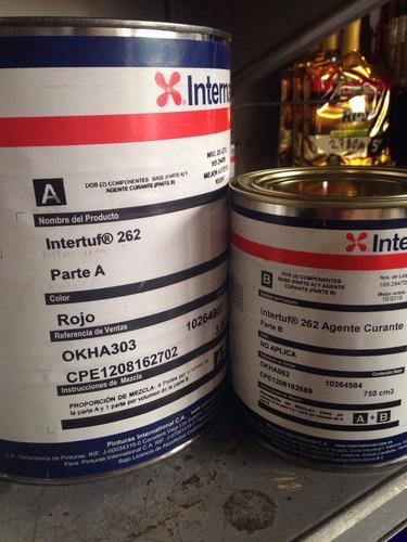 international - intertuf 262 rojo fondo acabado epoxi rojo