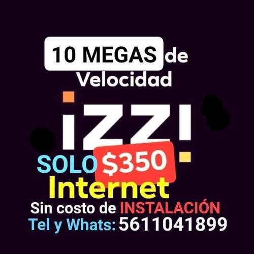 internet 10 megas teléfono y izzitvhd netflix y blim