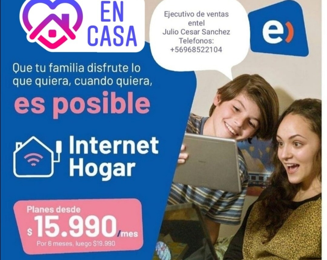 Internet Cable Tv Telefono Fijo Hogar Entel En Mercado Libre