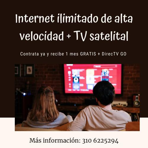 internet de alta velocidad ilimitado + televisión satelital