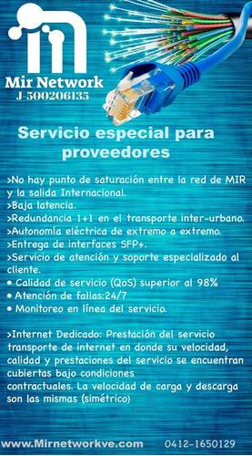 internet dedicado oferta especial para proveedores