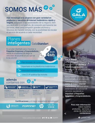 internet empresaria - residencial -desde 4 mb hasta 100mb