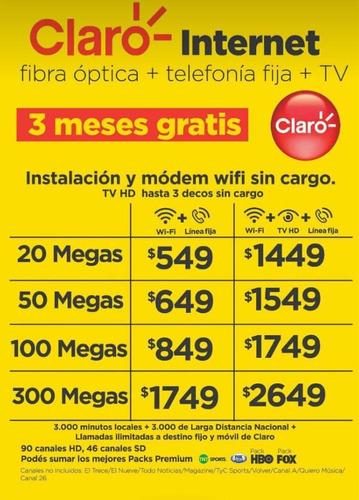 internet fibra óptica y portabilidad  claro