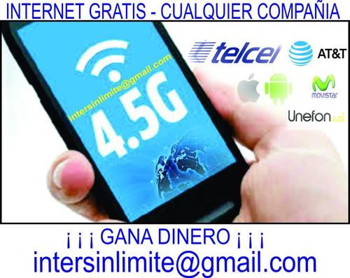 internet gratis ilimitado telcel movistar iusacell y unefon