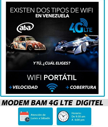 internet modem bam lte- 4g / 3g digitel movistar