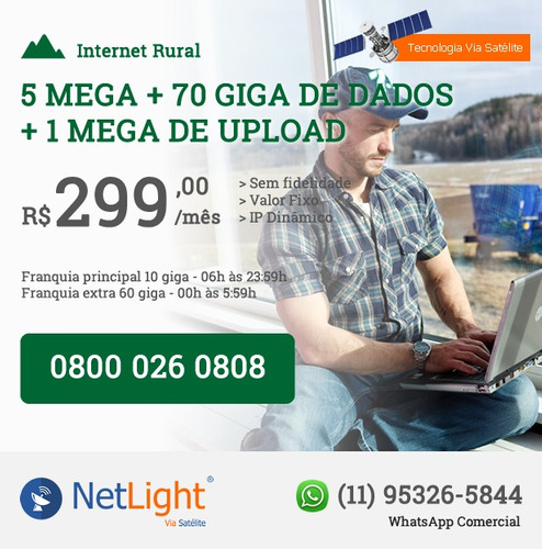 internet rural - tecnologia via satélite