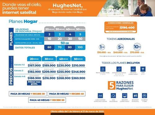 internet satelital rural, instalacion y primer mes gratis.