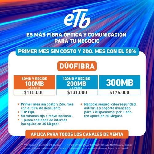 internet y televisión 100% fibra óptica