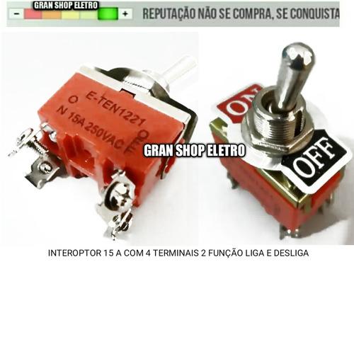 interoptor tic-tac alavanca metal 4 terminais 15a .no/off