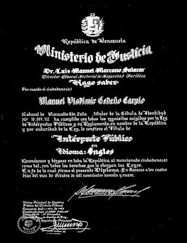intérprete público, traductor certificado, traducciones