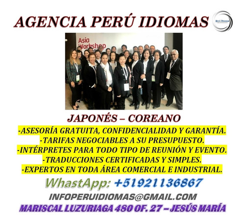 intérpretes chino mandarín, cantonés y japonés