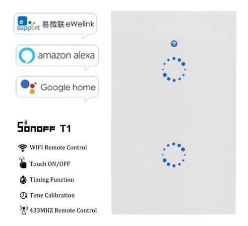 interruptor 2 teclas inteligente wifi sonoff google home