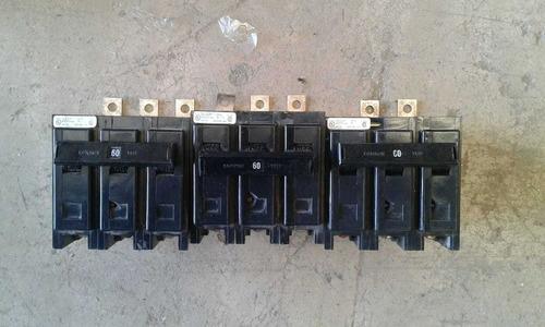interruptor 3 polo con zapatas cutler -hammer bab306h