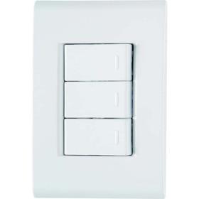 Interruptor 3 Teclas Simples 2 X 4 Com Placa Liz Tramontina