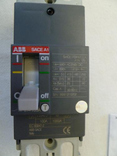 interruptor abb formula a1n125 tmf 100-1000 2polos 690vac