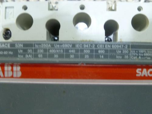 interruptor abb isomax s3n250 r200amp 690v 65ka en 230v