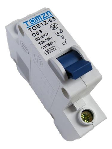 interruptor breaker dc disyuntor planta solar,  continua 63a