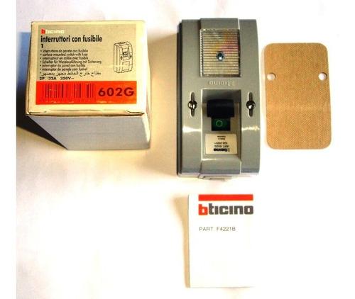 interruptor bticino 602g de 32 amp 250v de 2 polos